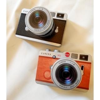 【新品未開封】Eureka カメラ缶 望遠レンズ ブラウンとブラックの2点(菓子/デザート)