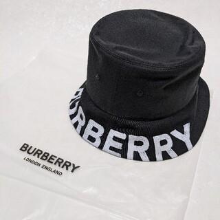 バーバリー(BURBERRY)の【新品正規品☆】Burberry リバーシブル ロゴプリント バケットハット(ハット)