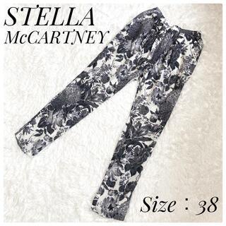 ステラマッカートニー(Stella McCartney)の美品 ステラマッカートニー パンツ シルク100% 花柄 ハンガリー製(カジュアルパンツ)