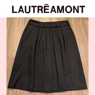 ロートレアモン(LAUTREAMONT)のロートレアモン タイトスカート ブラック ウール(ひざ丈スカート)