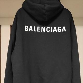 Balenciaga - [超美品] BALENCIAGA バックロゴ パーカー フーディ 正規店購入