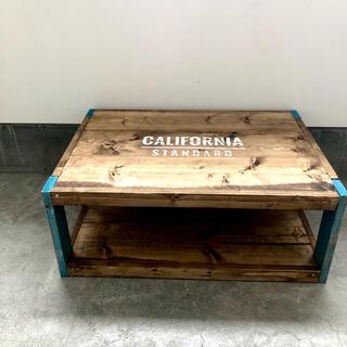 男前家具 西海岸カリフォルニア風 ローテーブル テレビ台(ローテーブル)