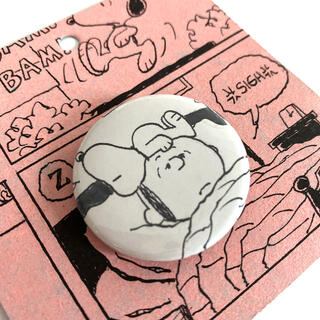 ピーナッツ(PEANUTS)の新品未使用 希少スヌーピーミュージアム限定 缶バッジ(キャラクターグッズ)