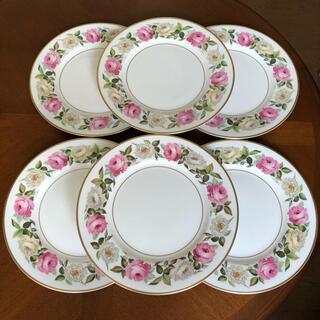 ロイヤルウースター(Royal Worcester)の【美品】ロイヤルウースター★ロイヤルガーデン★ディナー皿 6枚(食器)