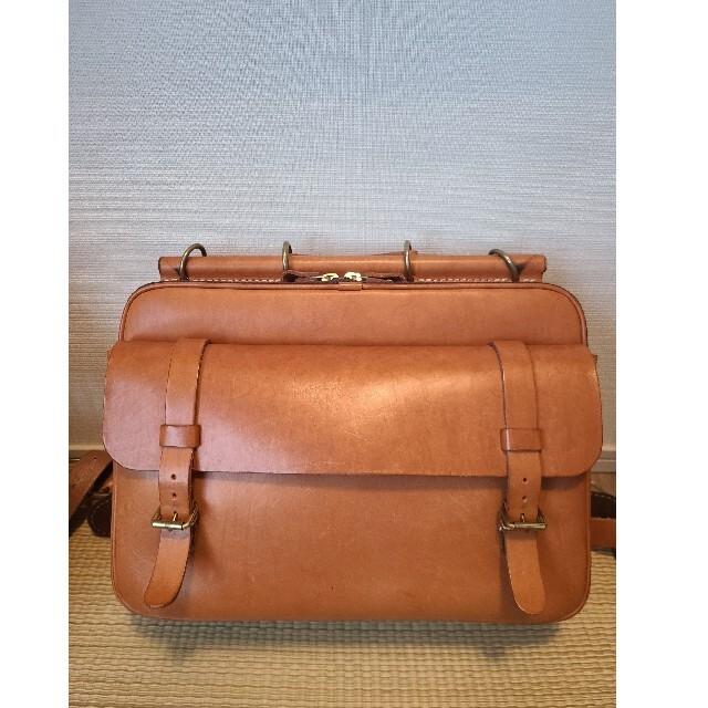 HERZ(ヘルツ)の【美品】HERZ レザー 本革 バッグ リュック 大容量 ビジネスバッグ L メンズのバッグ(バッグパック/リュック)の商品写真