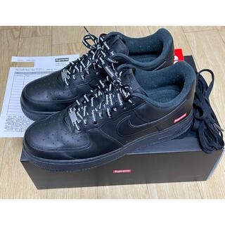 シュプリーム(Supreme)のSupreme Nike Air Force 1 Low 黒 27.5cm(スニーカー)