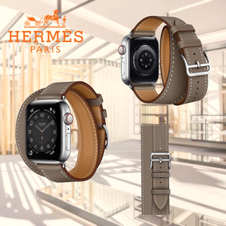 Hermes - Apple Watch HERMES ドゥブルトゥール エトゥープ バンドのみ