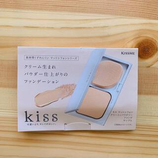 Kiss Me - キスミーマットシフォンクリーミィパウダリーファンデ 02 ライトオークル