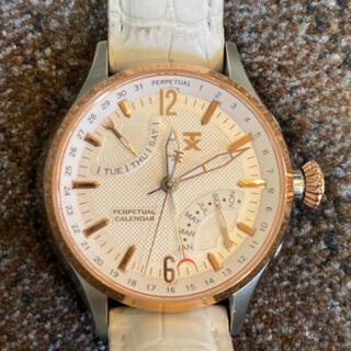タイメックス(TIMEX)のTX SS パーペチュアルカレンダー クォーツ ホワイト文字盤 T3C255(腕時計(アナログ))