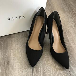 ランダ(RANDA)のランダ RANDA   クッションパンプス   ブラック(ハイヒール/パンプス)