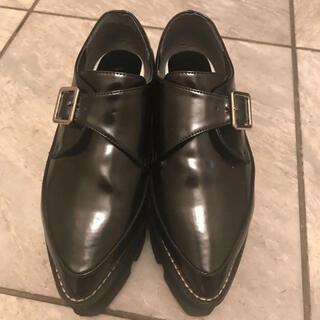 ムルーア(MURUA)のmurua ベロアソール 厚底ローファー (ローファー/革靴)