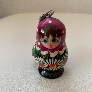 マトリョーシカ キーホルダー 紫(キーホルダー)