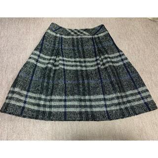 バーバリー(BURBERRY)の最終sale【Burberry】モヘア•絹 混紡(ひざ丈スカート)