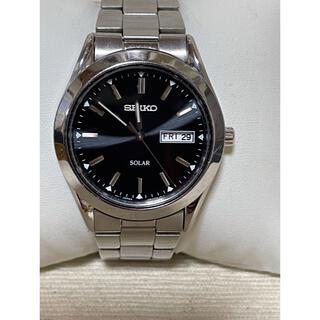 セイコー(SEIKO)のSEIKO SOLAR V158-0AB0 文字版ブラック セイコー 腕時計(腕時計(アナログ))