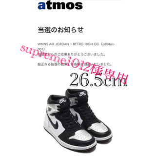 ナイキ(NIKE)のAIR JORDAN 1 RETRO HIGH OG SILVER TOE(スニーカー)