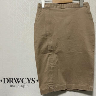 ドロシーズ(DRWCYS)の【美品】DRWCYS フロントサイドジップ膝丈ストレッチチノタイトスカート(ひざ丈スカート)