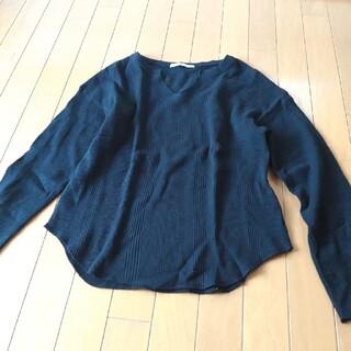 ケービーエフ(KBF)のアーバンリサーチ KBF 長袖Tシャツ 美品 黒 ワッフル Fサイズ(Tシャツ(長袖/七分))