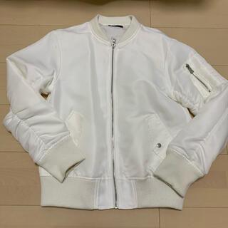 エモダ(EMODA)のEMODA MA-1 ブルゾン レディース 白 ホワイト 秋服 春服 アウター(ブルゾン)