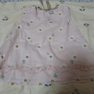 プティマイン(petit main)のプティマイン     お花チュニック110(Tシャツ/カットソー)