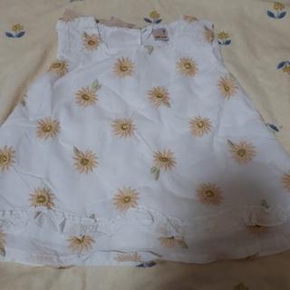 プティマイン(petit main)の本日限定価格*プティマイン     お花チュニック100(Tシャツ/カットソー)