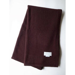SUNSEA - yoke 19aw ALPACA WOOL LONG STOLE・BROWN