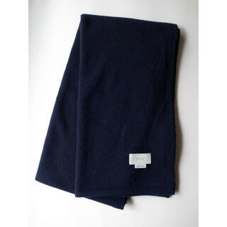 SUNSEA - yoke 19aw ALPACA WOOL LONG STOLE・NAVY