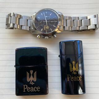 ジッポー(ZIPPO)のPEACE ZIPPO 非売品 限定 腕時計 オイルライター ジッポ ピース(タバコグッズ)