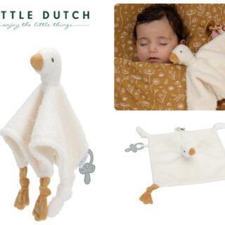 ボンポワン(Bonpoint)の▼ Little dutch リトルダッチ ▼ ぬいぐるみタオル グース(知育玩具)