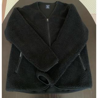 ジムフレックス(GYMPHLEX)のGymphlexジムフレックス ノーカラーボアフリースジャケット ブラックS(ブルゾン)