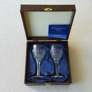 ボヘミア クリスタル(BOHEMIA Cristal)のBOHEMIA  Crystal  500PKカット  ペアワイングラス (グラス/カップ)