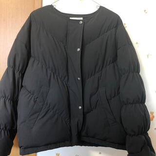 オゾック(OZOC)のダウンジャケット ブラック サイズ38(ダウンジャケット)