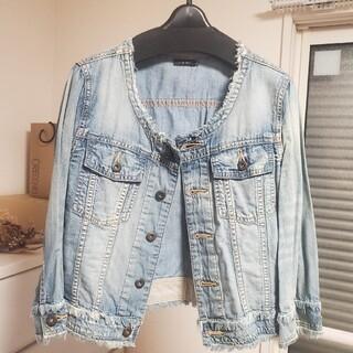 ルシェルブルー(LE CIEL BLEU)のLECIELBLEUデニムシャツジャケット(Gジャン/デニムジャケット)