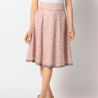 ミッシュマッシュ(MISCH MASCH)のMISCH MASCH 配色レースオンレーススカート(ひざ丈スカート)