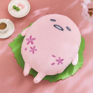 グデタマ(ぐでたま)のぐでたま ふわもち 桜餅ぐでたま BIG ぬいぐるみ 新品 未使用(ぬいぐるみ)