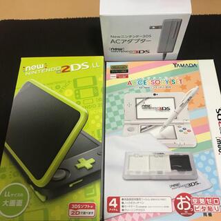 ニンテンドー2DS(ニンテンドー2DS)の新品 未使用 newニンテンドー 2DSLL 本体  ブラックライム(携帯用ゲーム機本体)