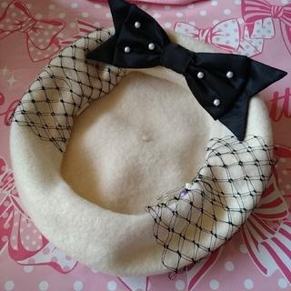 アンジェリックプリティー(Angelic Pretty)のチュールベレー アイボリー(ハンチング/ベレー帽)