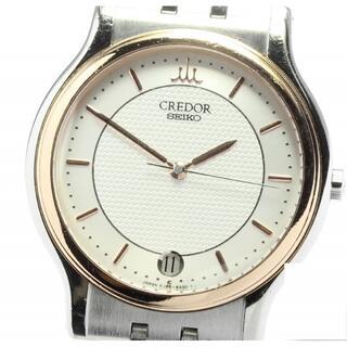 セイコー(SEIKO)のセイコー クレドール デイト 8J86-6A00 クォーツ メンズ 【中古】(腕時計(アナログ))