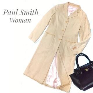 Paul Smith - ポールスミス ウーマン シルク混 ロングコート ベージュ L レディース