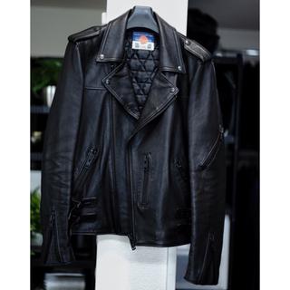 アンダーカバー(UNDERCOVER)の購入13万円 blackmeans ブラックミーンズ ライダース(ライダースジャケット)