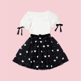 ロディスポット(LODISPOTTO)のmille fille closet ❤︎ ハートフリルスカート(ミニスカート)
