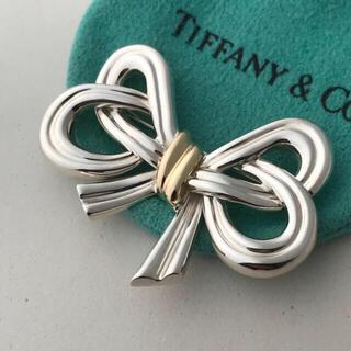 ティファニー(Tiffany & Co.)のティファニー リボンモチーフ ブローチ(ブローチ/コサージュ)