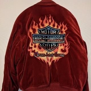 ハーレーダビッドソン(Harley Davidson)のHARLEY DAVIDSON ハーレーダビッドソン ベロア スカジャン(スカジャン)