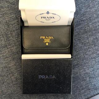 PRADA - PRADA レザーキーケース 黒