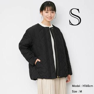 GU - 新品☆GU☆キルティングブルゾン☆ブラック☆Sサイズ