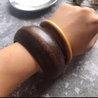 アズールバイマウジー(AZUL by moussy)のSALE!wide wood bangle(ブレスレット/バングル)