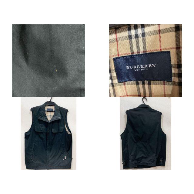 BURBERRY(バーバリー)のバーバリー ネーム入り ベスト 黒 メンズのトップス(ベスト)の商品写真
