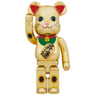メディコムトイ(MEDICOM TOY)のBE@RBRICK 招き猫 昇運 弐 金メッキ 100%400% 各2セット(フィギュア)