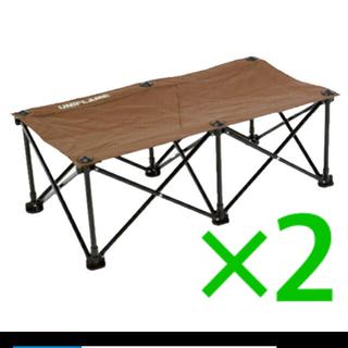 ユニフレーム(UNIFLAME)のUNIFLAME リラックスベンチ ブラウン×ブラック ユニフレーム2個(テーブル/チェア)