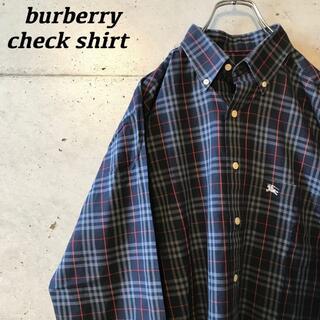 "BURBERRY - ""burberry"" チェックシャツ"
