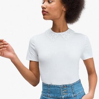ケイトスペードニューヨーク(kate spade new york)のkatespade♡襟レースT-shirt(Tシャツ(半袖/袖なし))